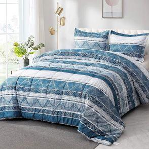 Shatex Bedding Comforter Sets Ultra Soft 100% Microfiber Polyester,Blue