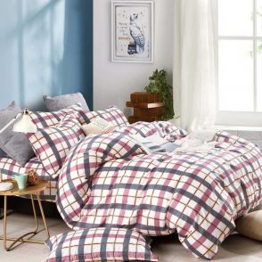 Shatex Twin Size Brown Stripes Bedding Comforter Sets 2 Pieces with 1 Pillow Sham