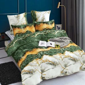 Shatex Twin Size Green Soft Bedding Comforter Sets 2 Pieces with 1 Pillow Sham