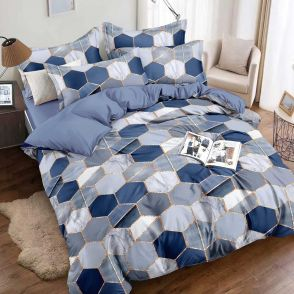 Shatex Twin Size Blue Soft Bedding Comforter Sets 2 Pieces with 1 Pillow Sham